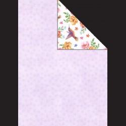 Papír A4, 300 g - květy / kolibřík