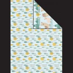 Papír A4, 300 g - stromy / lama