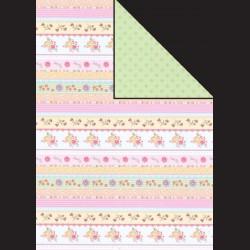 Papír A4, 300 g - květinové pásy / kytičky