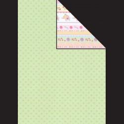 Papír A4, 300 g - kytičky / květinové pásy