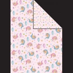 Papír A4, 300 g - jednorožec / drobný vzor
