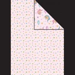 Papír A4, 300 g - drobný vzor / jednorožec