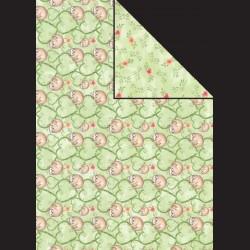 Papír A4, 300 g - lenochod / květy