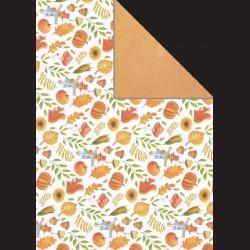 Papír A4, 300 g - podzim v lese / oranžová