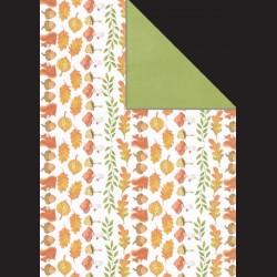 Papír A4, 300 g - podzimní listí / zelená