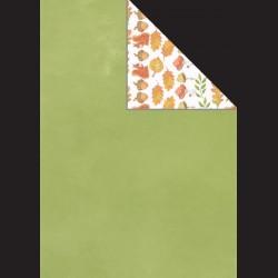 Papír A4, 300 g - zelená / podzimní listí