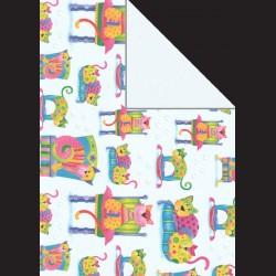 Papír A4, 300 g - kočky / modrobílá