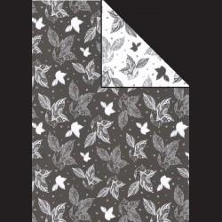 Papír A4, 300 g - ptáci černí / ptáci bílí
