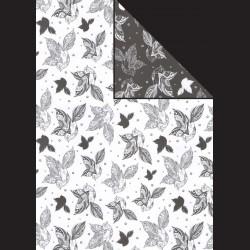 Papír A4, 300 g - ptáci bílí / ptáci černí