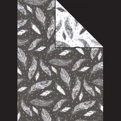 Papír A4, 300 g - peří černé / peří bílé