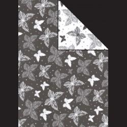 Papír A4, 300 g - motýli černí / motýli bílí
