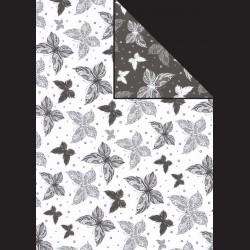 Papír A4, 300 g - motýli bílí / motýli černí