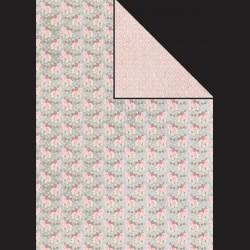 Papír A4, 300 g - květiny / růžový vzor