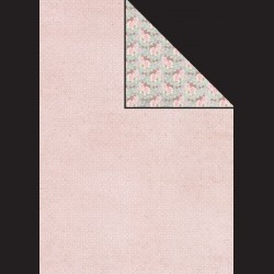 Papír A4, 300 g - růžový vzor / květiny