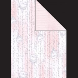 Papír A4, 300 g - labuť / jemný vzor