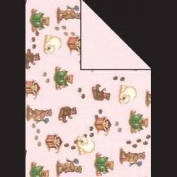 Papír A4, 300 g - medvídci / růžová