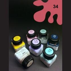 Barva na porcelán Chalky - červená, 20 ml