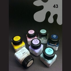 Barva na porcelán Chalky - šedá, 20 ml