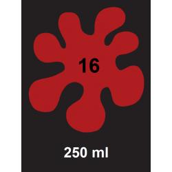 Barva na tm. textil - červená, 250 ml