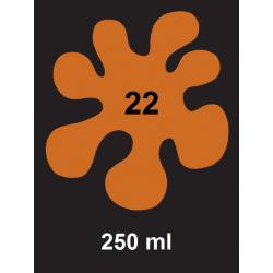 Barva na tm. textil - oranžová, 250 ml