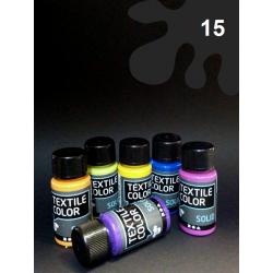 Barva na tm. textil - černá, 50 ml