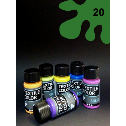 Barva na tm. textil - zelená, 50 ml