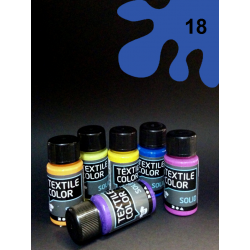 Barva na tm. textil - modrá, 50 ml