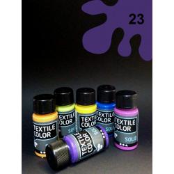 Barva na tm. textil - fialová, 50 ml