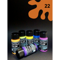 Barva na tm. textil - oranžová, 50 ml