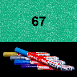 Fix na textil glitrový zelený, 2 mm