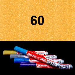Fix na textil glitrový žlutý, 2 mm
