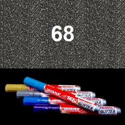 Fix na textil glitrový černý, 2 mm