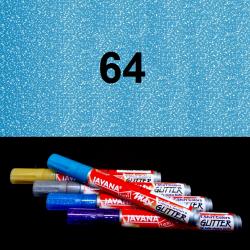 Fix na textil glitrový modrý, 2 mm