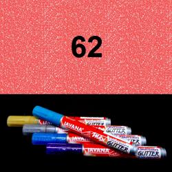 Fix na textil glitrový červený, 2 mm