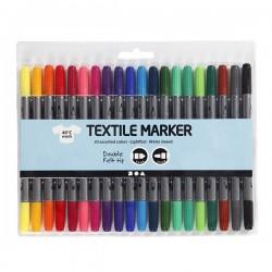 Oboustranné fixy na textil - základní, 20 ks