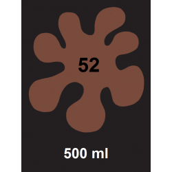 Barva na textil - hnědá, 500 ml