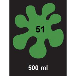 Barva na textil - zelená, 500 ml