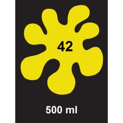 Barva na sv. textil - žlutá, 500 ml