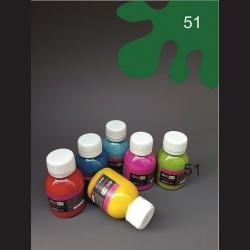 Barva na textil - tmavě zelená, 65 ml