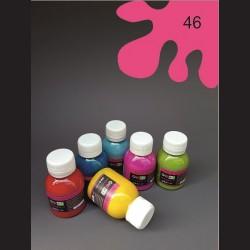 Barva na textil - tmavě růžová, 65 ml