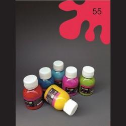 Barva na textil - malinová, 65 ml