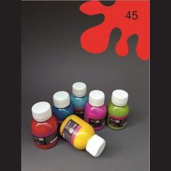 Barva na textil - červená, 65 ml