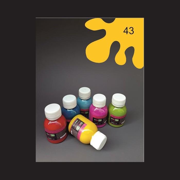 Barva na sv. textil - tmavě žlutá, 65 ml