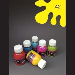 Barva na sv. textil - žlutá, 65 ml