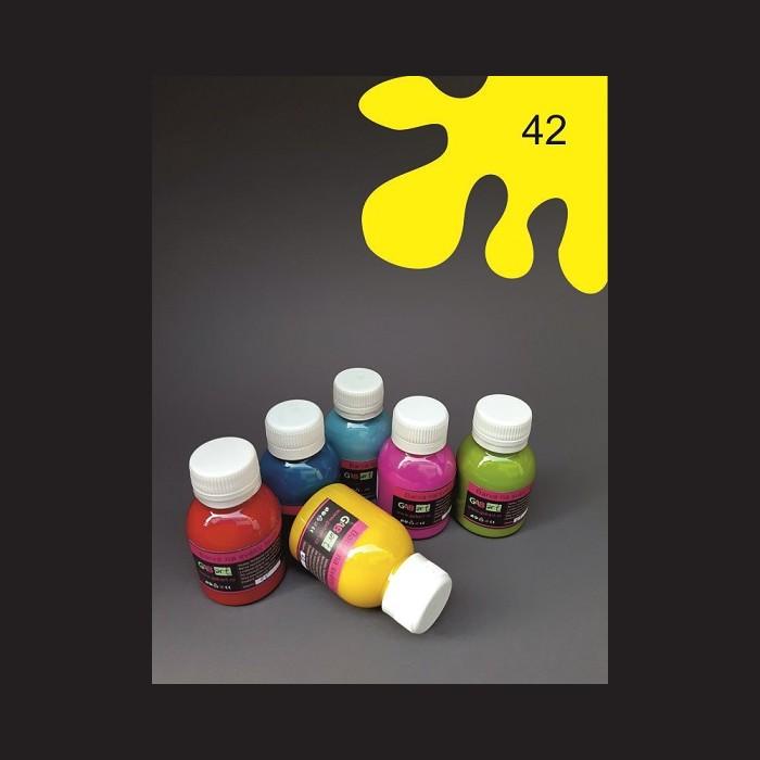 Barva na textil - žlutá, 65 ml
