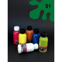 Barva na sv. textil - tm. zelená, 110 ml