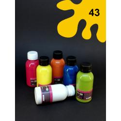 Barva na sv. textil - tm. žlutá, 110 ml