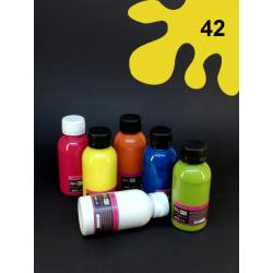 Barva na sv. textil - žlutá, 110 ml