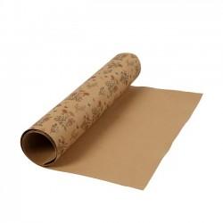 Kožený papír, 50x100 cm - vzor květin