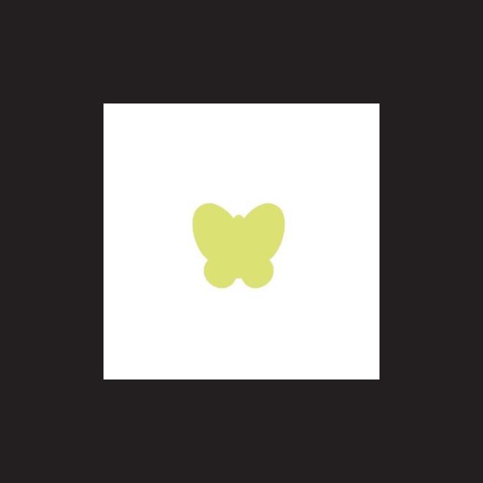 Raznice na papír a mosgumu - motýl, 2,5 cm